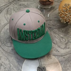 Amsterdam gray and green adjustable hat